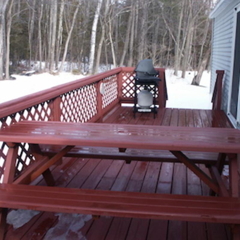 Rental Backyard Deck